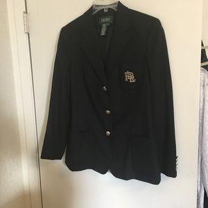 Ralph Lauren Black Blazer Size 10
